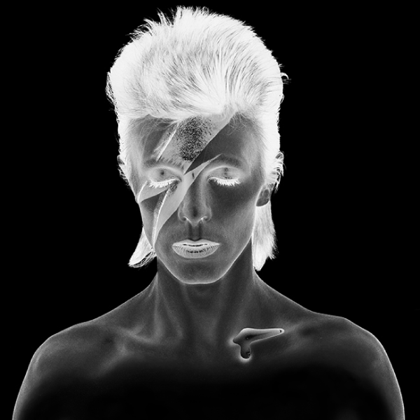 Aladdin Sane Remastered Black & White Negative