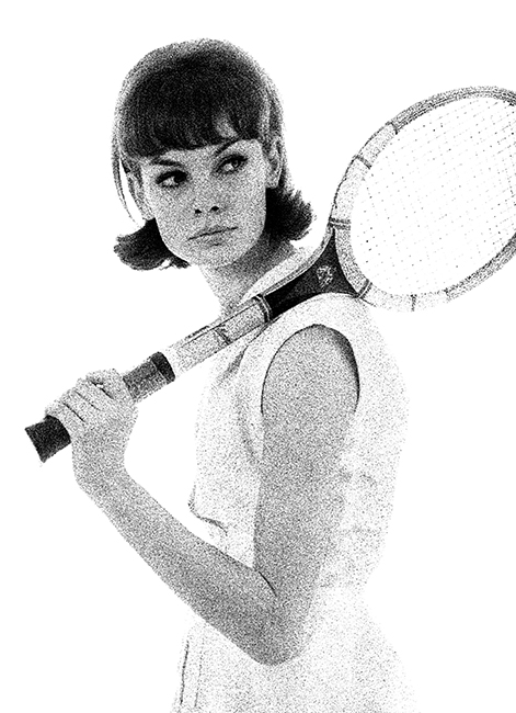 Jean Shrimpton - Tennis - Vogue - 1961
