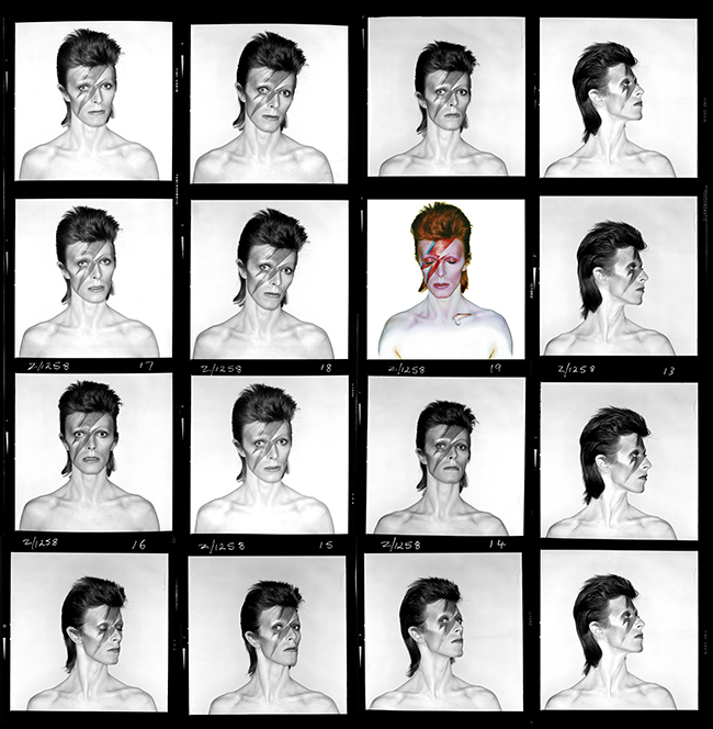 David Bowie Aladdin Sane Contact Sheet