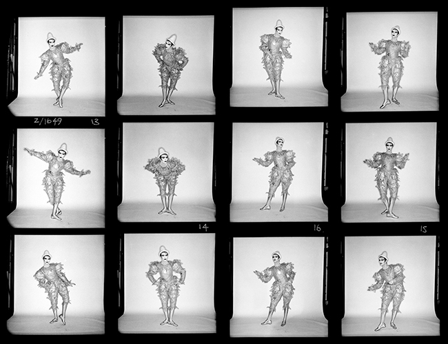 DAVID BOWIE - SCARY MONSTERS CONTACT SHEET