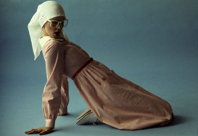 French Elle - White Headscarf and Glasses - 1975 Calendar