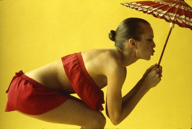 French Elle - Yellow Umbrella - 1975 Calendar